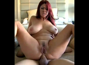Obese  mature housewife attempts butt..