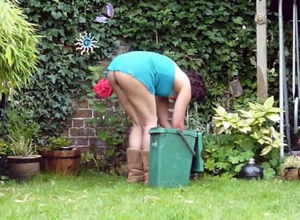 Naked gardening, spectacular neighbour..