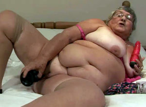Fatty grandmother still insatiable and..