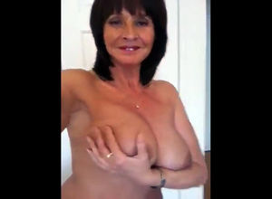 Depraved and nude elderly dame from..