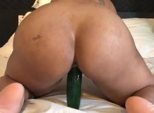 Former gf takes thick cucumber