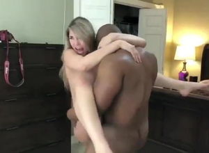 Ebony Fellow Romping Milky Wifey Rock..