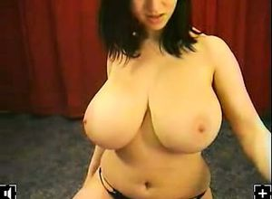 Splendid mummy huge tits masterbation..