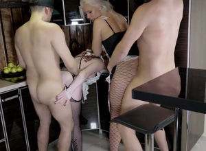 Insatiable housewives share hubbies