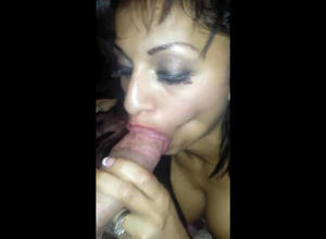Inebriated Latina  making a man jizz..