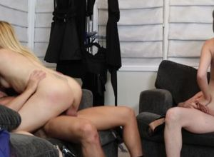 Scorching Swinger duo gets down and..