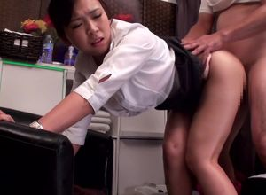 Japanese office lady, Kanon Takikawa..