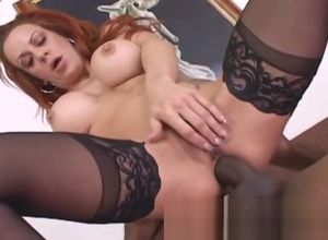 Ginger-haired Cougar luvs taking it up..