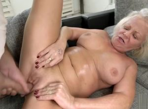 Big-chested Mature Blondie Bj's and..