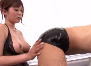 Taunting huge-boobed Asian mommy..